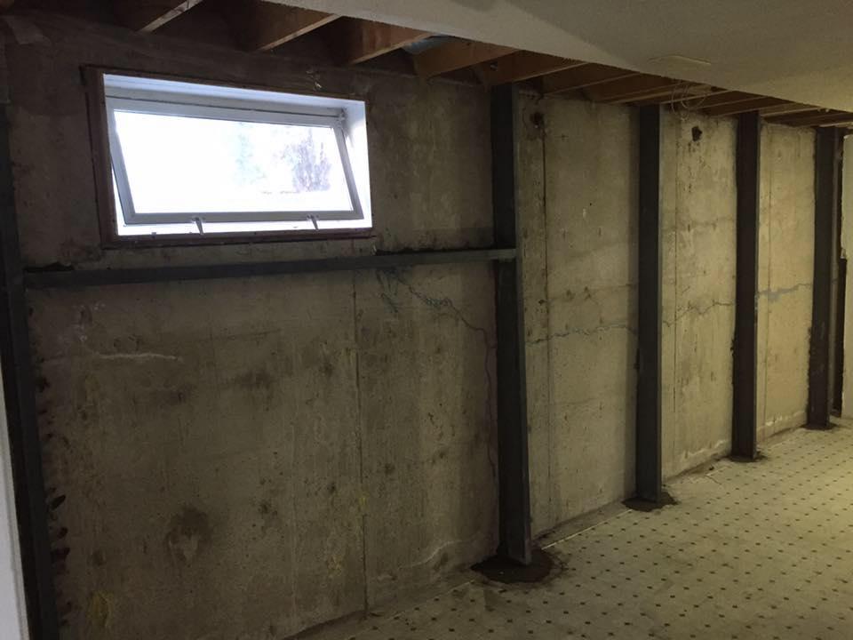 Basement Wall Bracing Forged Foundations